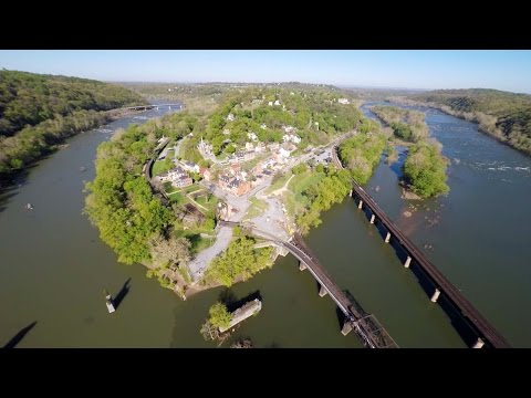 Harpers Ferry National Historic Park Aerial View in West Virginia