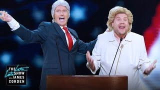 Denis Leary And James Corden Dress Up As The Clintons To Sing