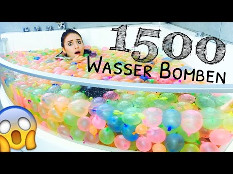 1500 WASSERBOMBEN .. ( Bunch O Balloons ) WTF ?! 😵 | BibisBeautyPalace
