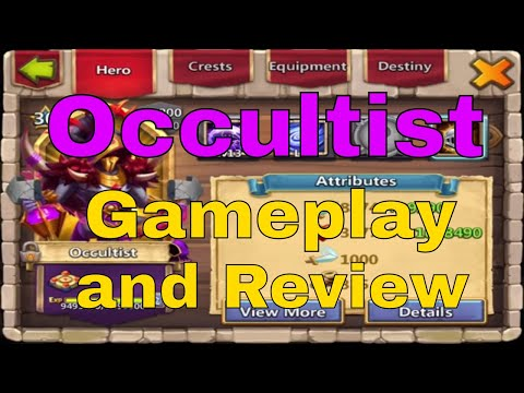 Occultist Hero Review And Castle Clash Gameplay