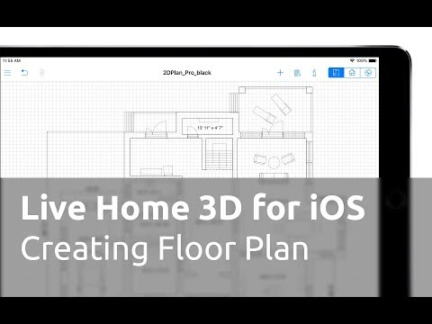 Live Home 3D for iOS / iPadOS Tutorials - Creating a Floor Plan