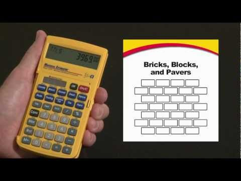 Material Estimator Bricks, Blocks and Pavers How To