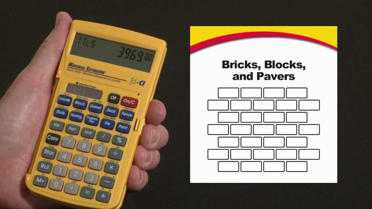 Material Estimator Bricks, Blocks And Pavers How To   YouTube