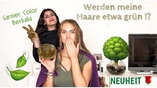 Nadja färbt meine Haare mit grünem Zeug aus der Natur 🙀 ( Garnier Color Herbalia ) || Bianca Own