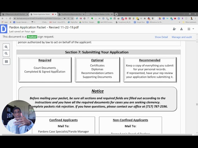 Video 9 - Finishing Up: What To Send In With Your Pardon Application (Sections 6 and 7)