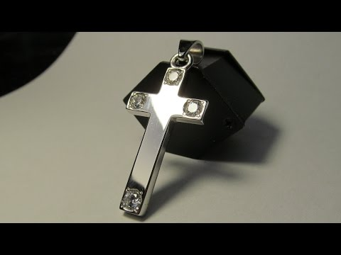 Серебряный крест (церконий 4 мм)