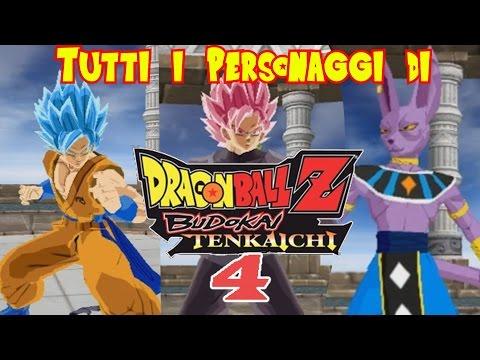 Tutti i Personaggi di DBZ: BUDOKAI TENKAICHI 4 (Per ora)