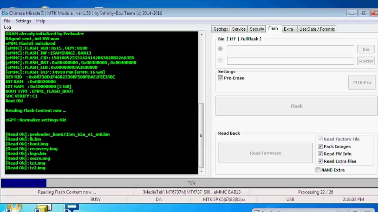 Qmobile E1 MT6737 Tested Scatter Flash File Read By CM2MTK 100% Ok
