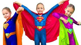 Superhéroes +otras Canciones Infantiles | Maya y Mary