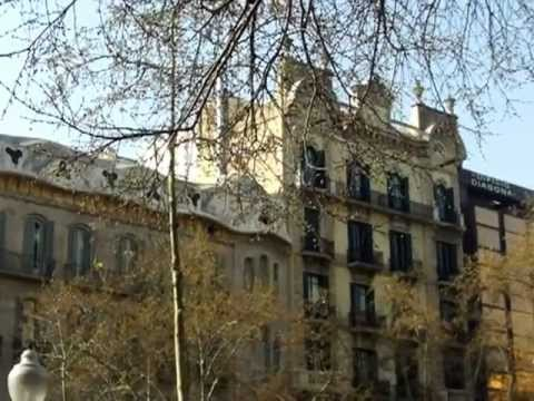 A view of the famous Avinguda Diagonal in Barcelona