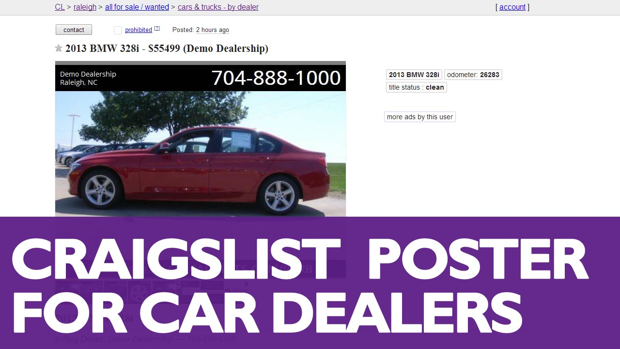 How to Post Cars to Craigslist with DSMC 2014 Marketing Software