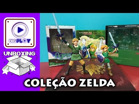 UNBOXING ZELDA: Livro Art and Artifacts | Manga Box Set | Figma Link Skyward Sword e Between Worlds