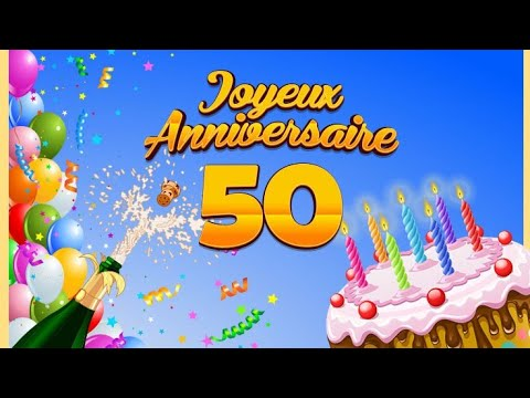 joyeux anniversaire 50 ans musique youtube. Black Bedroom Furniture Sets. Home Design Ideas