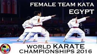BRONZE MEDAL. Female Team Kata EGYPT. 2016 World Karate Championships.