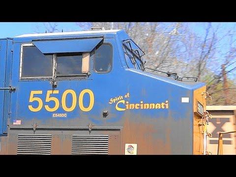 CSX Triple Meet, Friendly Engineer, & The Spirit Of Cincinnati