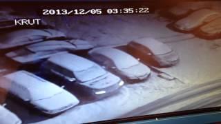 Новая Трехгорка  попытка угона Range Rover Vogue 2013 г.(Видео с видеорегистратора записала на комп после на телефон. Поэтому качество не очень. На видео видно,..., 2013-12-06T17:26:57.000Z)