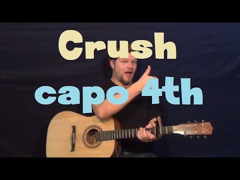 Crush (Jennifer Paige) Easy Guitar Lesson How to Play Tutorial Capo 4th Fret