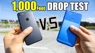 Google Pixel vs iPhone 7 - 1,000 FEET DROP TEST!!(, 2016-11-12T14:50:38.000Z)