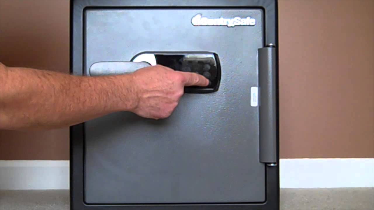 SentrySafe Digital Alarm Fire Safe - YouTube