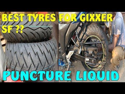 suzuki-gixxer-tyres-changed-|tyres-sidewall-got-cracks-|-puncture-liquid-protection-|ceat-zoom