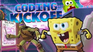 Ninja Turtle Donnie vs SpongeBob. Nickelodeon Coding Kickoff gameplay 2017