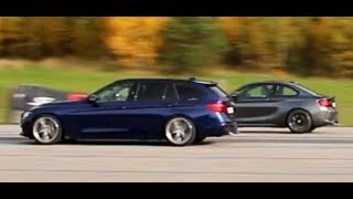 [4k] 326 HP BMW 340i xDrive Touring vs 370 HP BMW M2 Coupe DKG