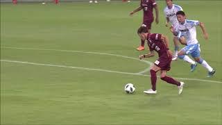セットプレーの二次攻撃からゴール前に抜け出した古橋 亨梧(神戸)が相...