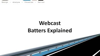 Civil Site Design - Webcast - Batters Explained