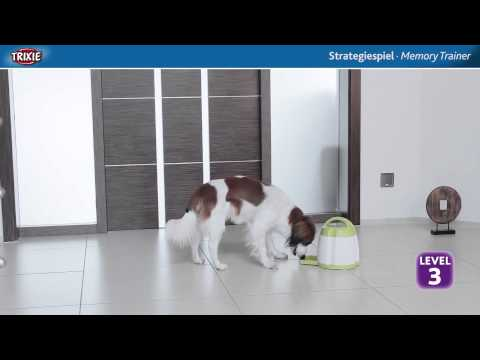 Dog Activity Memory Trainer Strategiespiel von Trixie. Intelligenzspielzeug für Hunde.