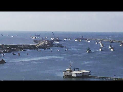 Nossa paralização chega ao mar Frota Pesqueira fechando o porto de Itajaí e Navegantes