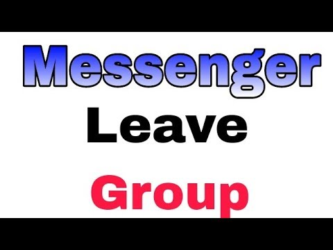 How To Left And Leave Messenger Group