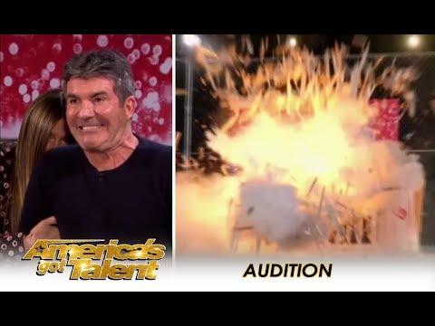 Annaliese Nock: Daredevil Girl EXPLODES 💥 In Locked Coffin!! OMG!! | America's Got Talent 2018