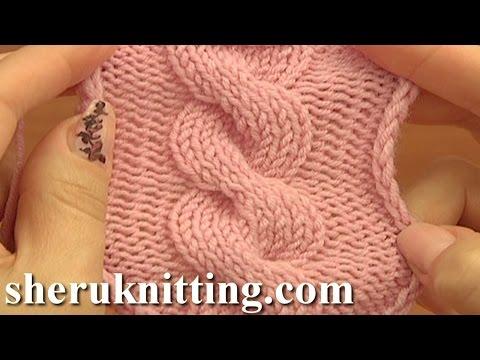 Front Cross Cable Stitch Pattern C8F Knitting Tutorial 12 קל סרוגה דפוסי כבל