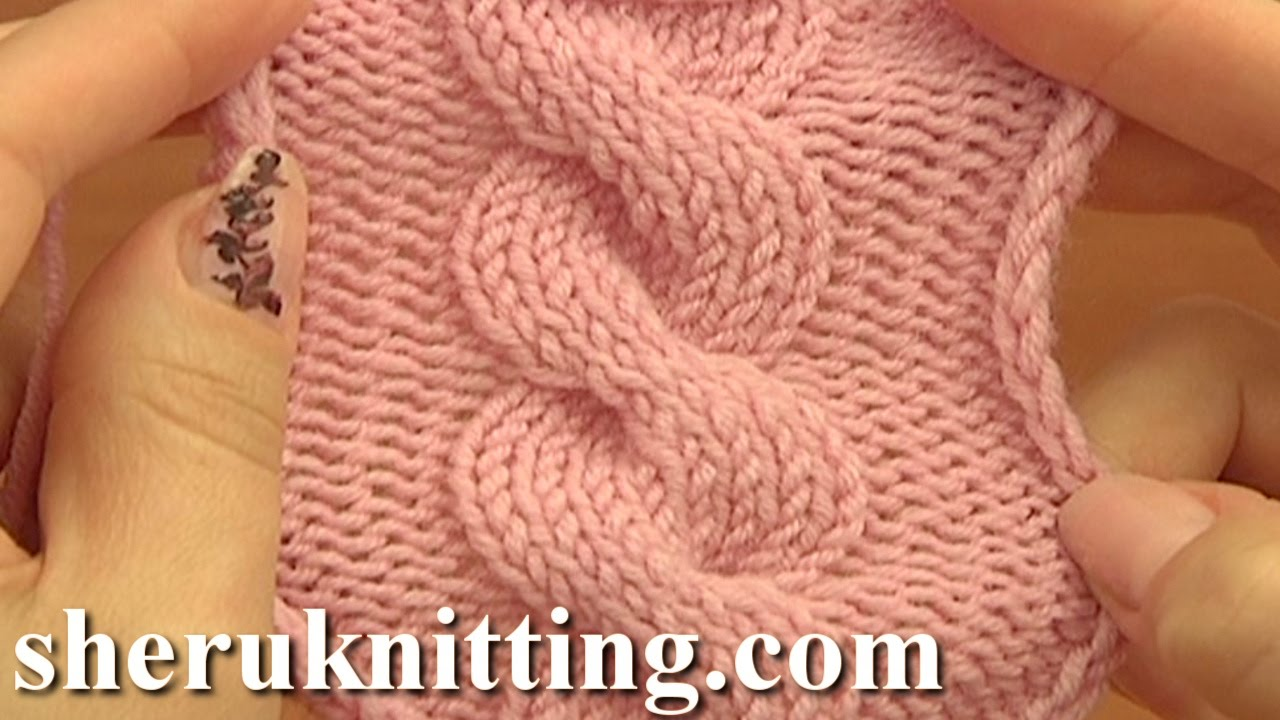 Knitting Cable Stitch Symbols : Front Cross Cable Stitch Pattern C8F Knitting Tutorial 12 Easy Cable Patterns...