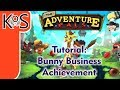 Adventure Pals TUTORIAL: BUNNY BUSINESS ACHIEVEMENT, TROPHY - How to, Gameplay