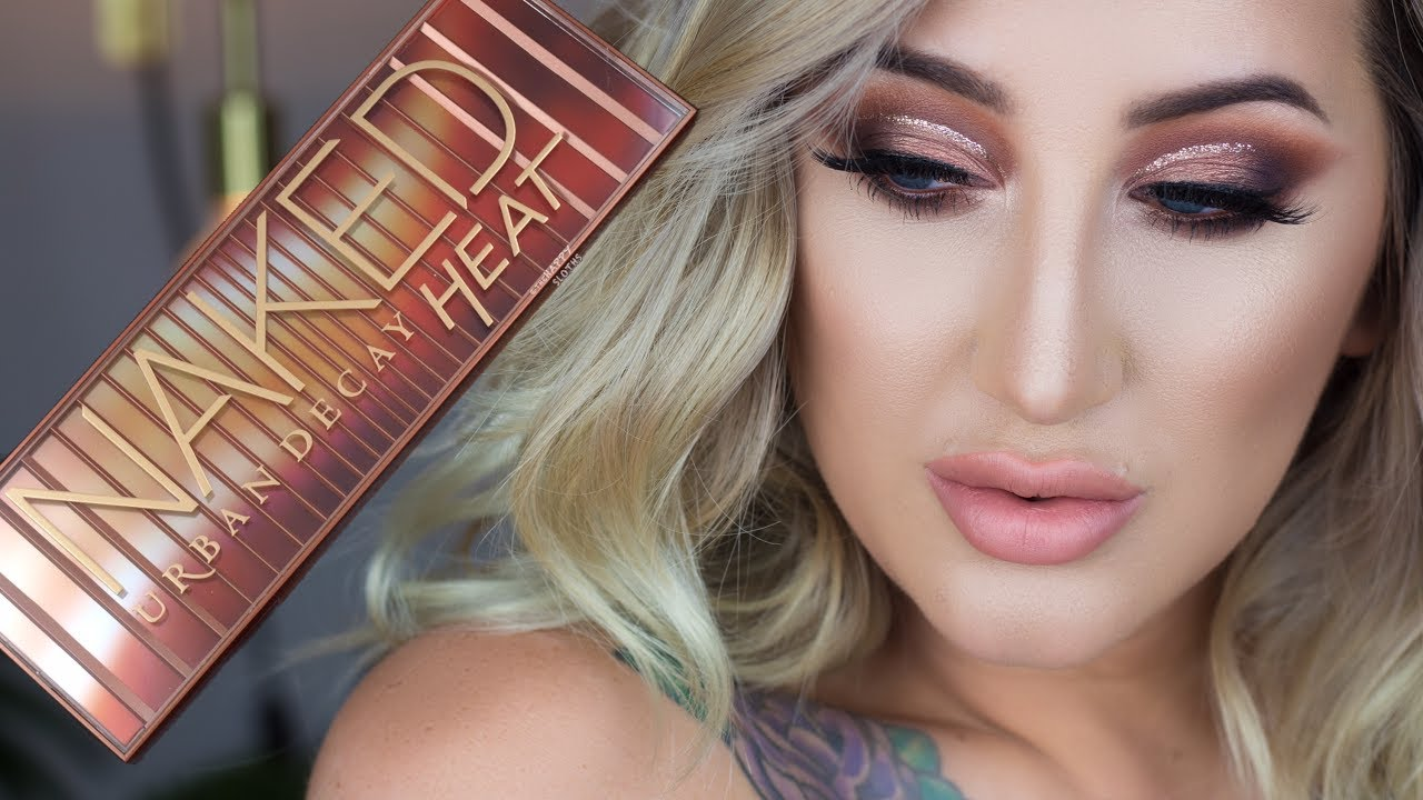 URBAN DECAY NAKED HEAT PALETTE TUTORIAL | lolaliner - YouTube
