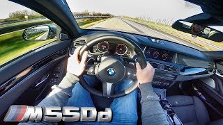 POV BMW M550D TOP SPEED & ACCELERATION Sound Test Drive on AUTOBAHN