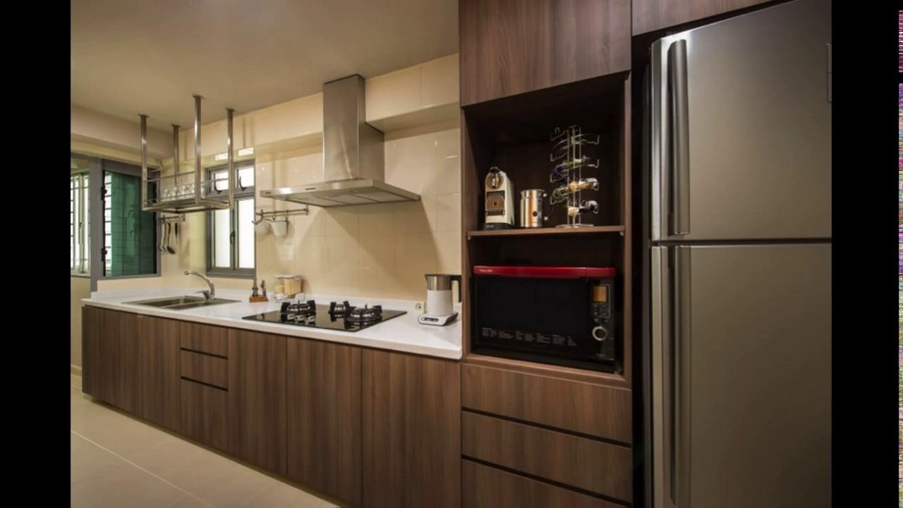 Kitchen cabinet design hdb flat  YouTube