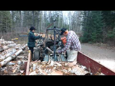 McLeod homemade firewood processor