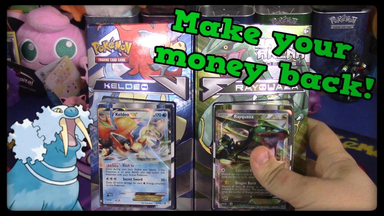 Pokemon Cards! Keldeo VS Rayquaza Battle Arena Decks ...