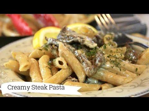 Creamy Steak Penne Pasta