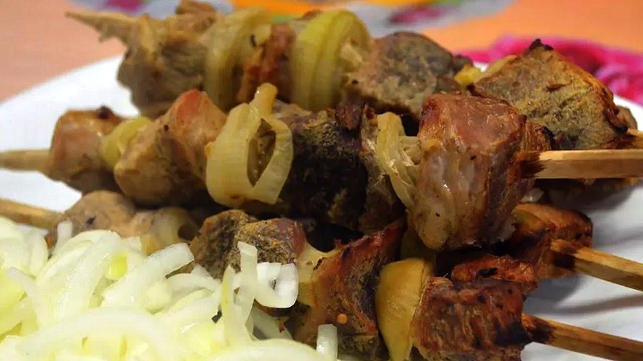Шашлык в банке в духовке- очень простой рецепт! / Shish kebab in the jar.