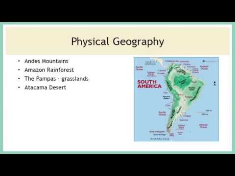 South America Physical Geography