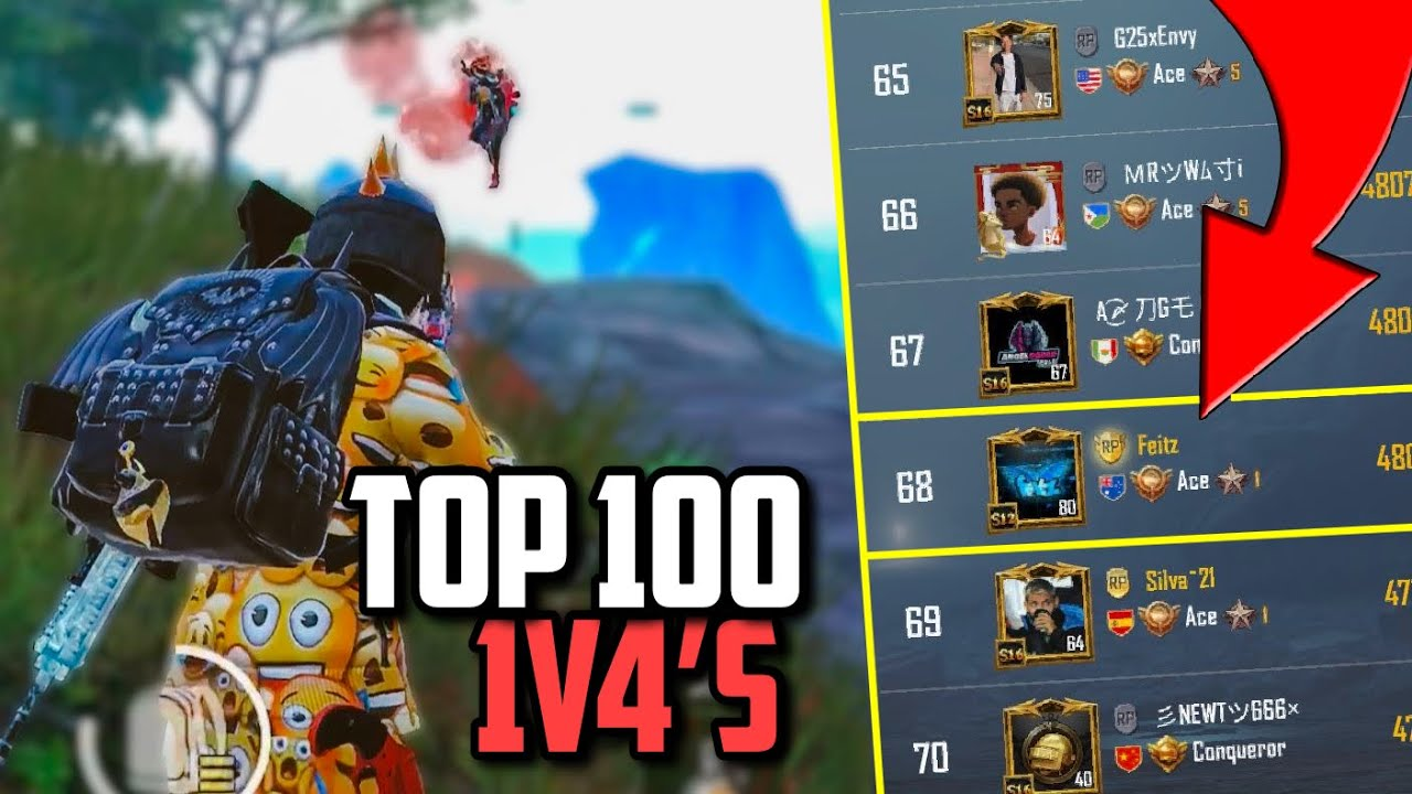 TOP 100 LEADERBOARD Player Wiping Squads!! || PUBG Mobile