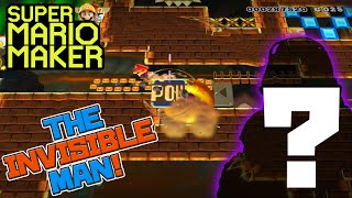 THE INVISIBLE MAN! - Super Mario Maker - Super Expert with Oshikorosu.