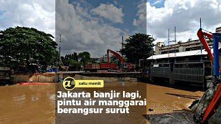 Jakarta banjir lagi, Pintu air manggarai berangsur surut