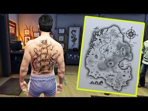 خريطة الكنز السفينة ووحش المحيط أخيرا إكتشفت السر في قراند 5 | GTA V Secret Tresor Hunt