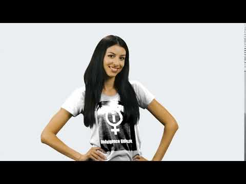 indulgence white t shirt design