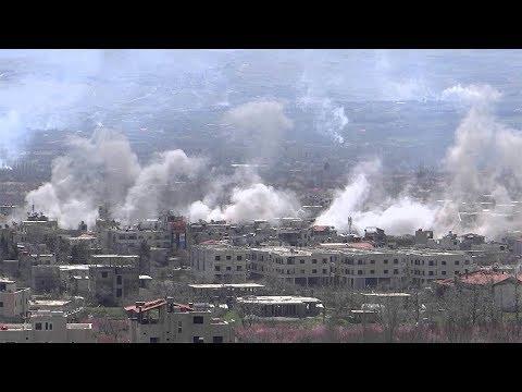 قصف بالصواريخ العنقودية على بلدات الغوطة الشرقية - جولة الميدان