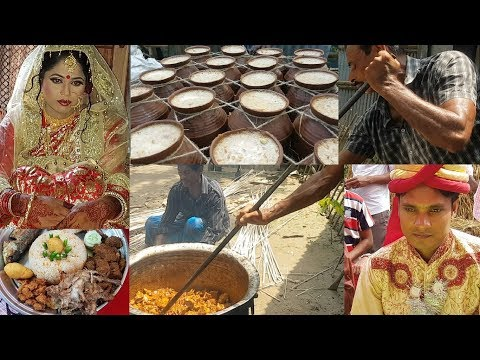 Traditional Marriage Ceremony | Foods (Beef, Roast) Cooking For 500 Peoples | Village Marriage